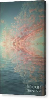 Reflection Of Turquoise Skies Canvas Print by Holly Martin