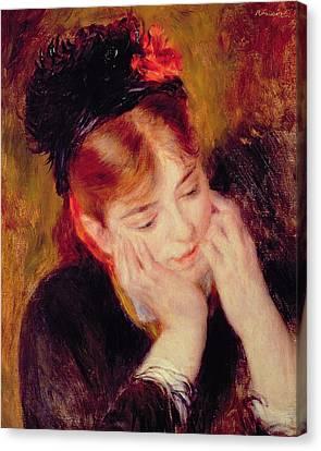 Reflection Canvas Print by Pierre Auguste Renoir