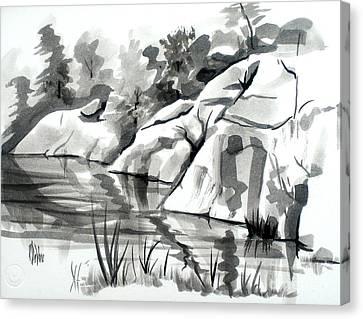 Reflections At Elephant Rocks State Park No I102 Canvas Print by Kip DeVore
