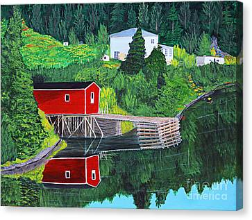 Reflections Canvas Print by Barbara Griffin