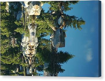 Reflections From Beartooth Highway Canvas Print by Larry Moloney
