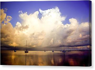 Reflections Of Key Largo Canvas Print by Karen Wiles