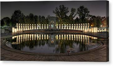 Reflections Of The Atlantic Theater Canvas Print by Metro DC Photography