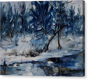 Reflections Of Winter Canvas Print by Xueling Zou