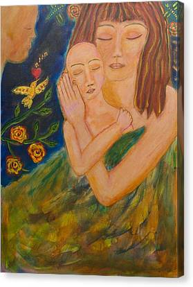 Reflections On Motherhood Canvas Print by Havi Mandell