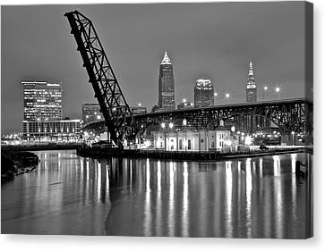 Reflections On The Cuyahoga Canvas Print by Frozen in Time Fine Art Photography