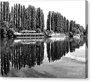 Reflections On The River Oise Canvas Print by Alex Cassels