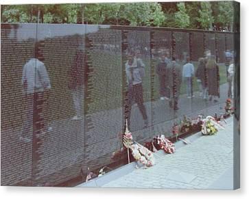 Reflections Vietnam Memorial Canvas Print by Joann Renner