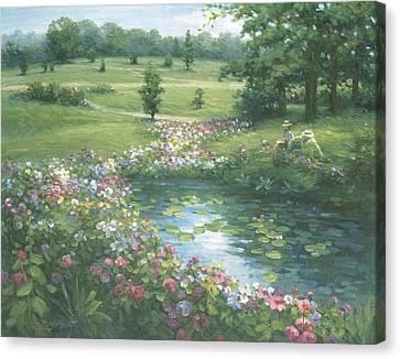 Reflective Beauty Canvas Print by Ghambaro