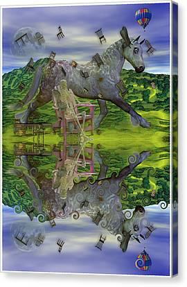 Reflective Oz Canvas Print by Betsy Knapp