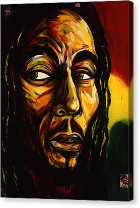 Bob Marley Reggae King Canvas Print by Cardell Walker