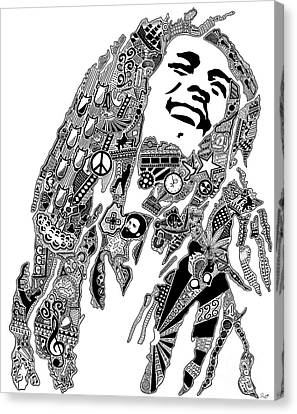 Reggae Music Canvas Print by The Art Of Rido