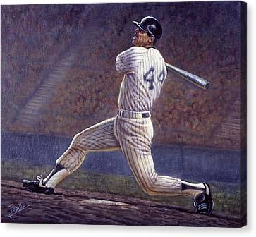 Reggie Jackson Canvas Print by Gregory Perillo