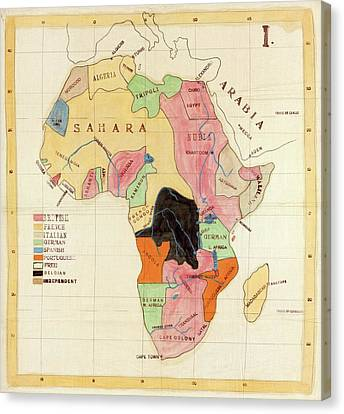 Regions Of Africa Canvas Print by Library Of Congress, Geography And Map Division