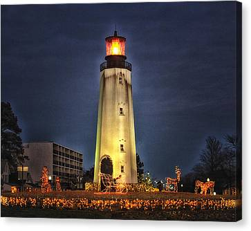 Rehoboth Circle Christmas Canvas Print by Bill Swartwout