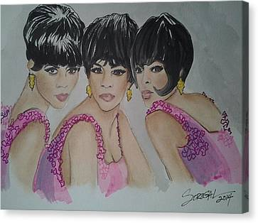 Reigning Supremes Canvas Print by Sonia Rodriguez