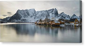 Reine And Sakrisoy Villages Canvas Print by Panoramic Images