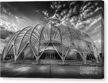 Reinforced Technology - Bw Canvas Print by Marvin Spates