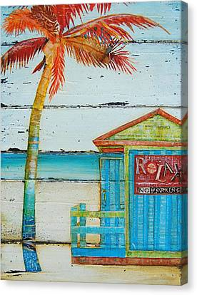Relax No Working Canvas Print by Danny Phillips