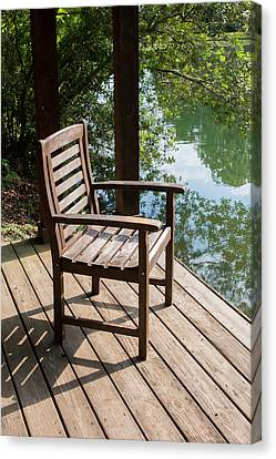 Alone By The Lake Canvas Print by Parker Cunningham