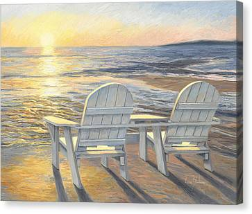 Relaxing Sunset Canvas Print by Lucie Bilodeau