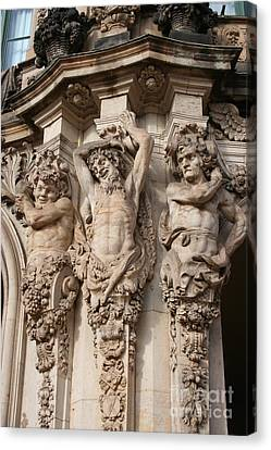 Relief Zwinger Dresden  Canvas Print by Christiane Schulze Art And Photography