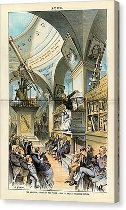 Religion And Science Canvas Print by Library Of Congress
