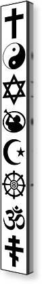 Religion Symbolized - Minimum Black Frame Canvas Print by Daniel Hagerman