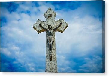 Religious Cross Canvas Print by Aged Pixel