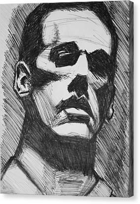 R.e.m. Michael Stipe Canvas Print by Adam Hembrough