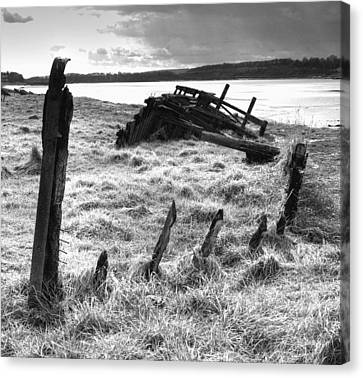 Remains Of The Severn Trow Severn Collier At Purton Canvas Print by Rachel Down