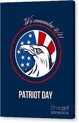 Remember 911 Patriots Day Poster Canvas Print by Aloysius Patrimonio
