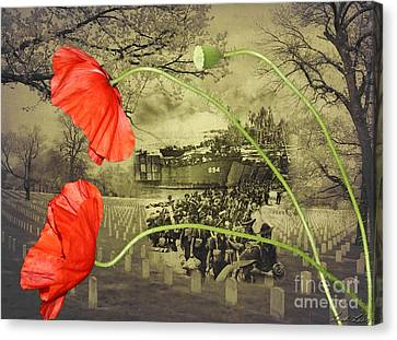 Remembrance Canvas Print by Linda Lees