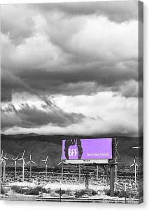 Remembrance Palm Springs First Lady Betty Ford Canvas Print by William Dey