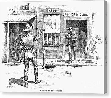 Remington: Duel Canvas Print by Granger