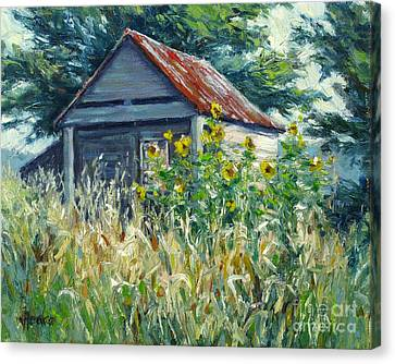 Remnants Of My Garden Canvas Print by Vickie Fears