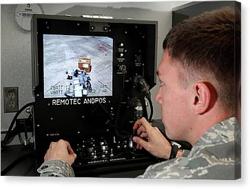 Remote Controlled Bomb Disposal Canvas Print by Us Air Force/rey Ramon