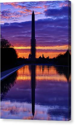 Repairing The Monument IIi Canvas Print by Metro DC Photography
