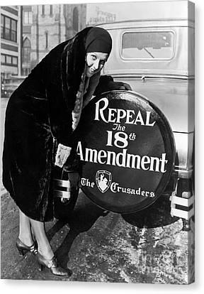 Repeal The 18th Amendment Canvas Print by Jon Neidert
