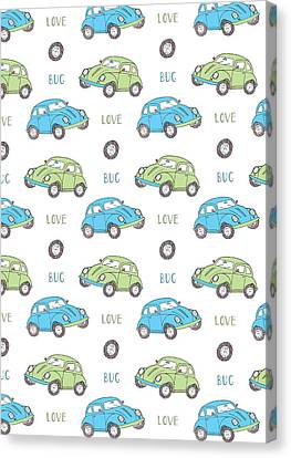 Repeat Print - Love Bug Canvas Print by Susan Claire