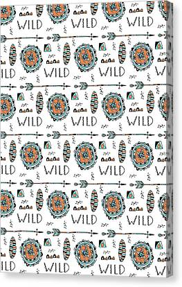 Repeat Print - Wild Canvas Print by Susan Claire
