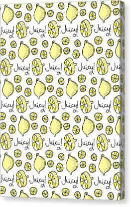 Repeat Prtin - Juicy Lemon Canvas Print by Susan Claire