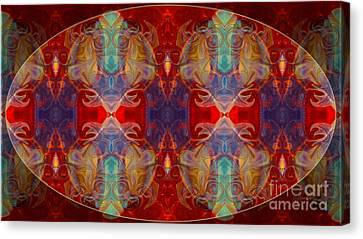 Repeating Realities Abstract Pattern Artwork By Omaste Witkowski Canvas Print by Omaste Witkowski