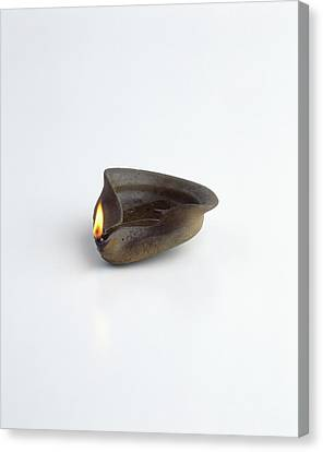 Replica Of Ancient Egyptian Oil Lamp Canvas Print by Dorling Kindersley/uig