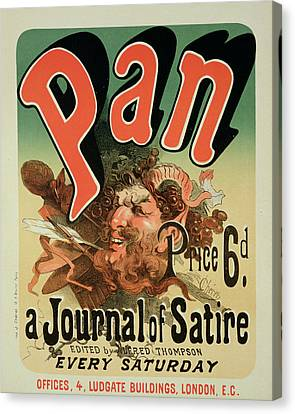 Reproduction Of A Poster Advertising Pan Canvas Print by Jules Cheret