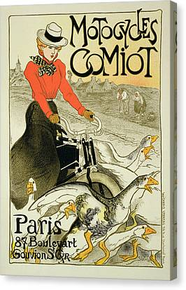 Reproduction Of A Poster Advertising Canvas Print by Theophile Alexandre Steinlen