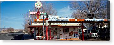 Restaurant On The Roadside, Route 66 Canvas Print by Panoramic Images