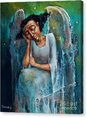Resting Angel Canvas Print by Michal Kwarciak