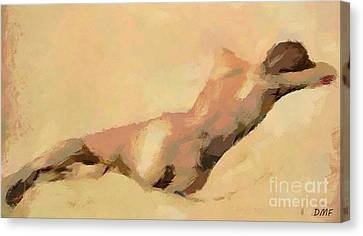 Resting Maya Canvas Print by Dragica  Micki Fortuna