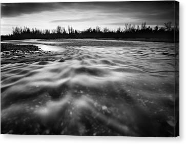 Restless River II Canvas Print by Davorin Mance